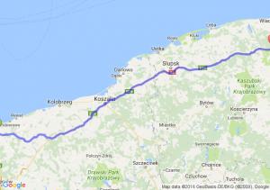 Kamień Pomorski (zachodniopomorskie) - Reda (pomorskie)
