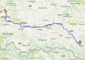 Dąbrowa Górnicza (śląskie) - Zagórz (podkarpackie)