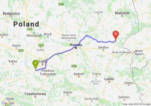 Trasa Łask - Siemiatycze