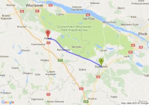 Trasa Gostynin - Kowal