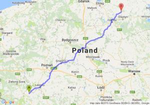 Głogów (dolnośląskie) - Dobre Miasto (warmińsko-mazurskie)