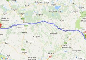 Łapy (podlaskie) - Brodnica (kujawsko-pomorskie)