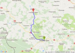 Jelenia Góra (dolnośląskie) - Lwówek Śląski (dolnośląskie)