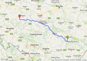 Trasa Tarnobrzeg - Ostrów Wielkopolski