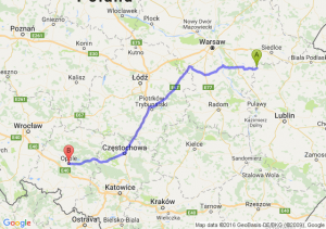 Stoczek Łukowski (lubelskie) - Opole (opolskie)