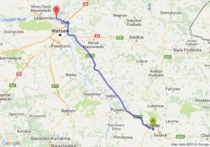 Lublin (lubelskie) - Legionowo (mazowieckie)