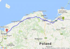 Górowo Iławieckie (warmińsko-mazurskie) - Goleniów (zachodniopomorskie)