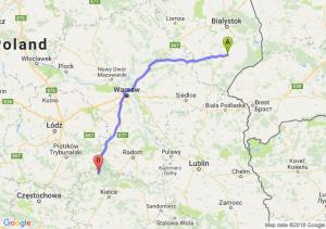 Trasa Bielsk Podlaski - Końskie
