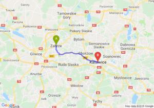 Trasa Zabrze - Katowice