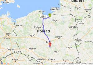 Trasa Pasłęk - Piotrków Trybunalski