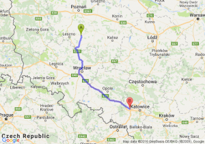 Gostyń (wielkopolskie) - Gliwice (śląskie)