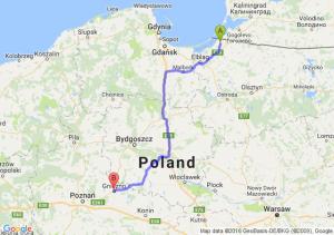 Braniewo (warmińsko-mazurskie) - Gniezno (wielkopolskie)