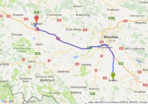 Strzelin (dolnośląskie) - Legnica (dolnośląskie)