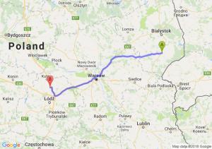 Trasa Bielsk Podlaski - Piątek
