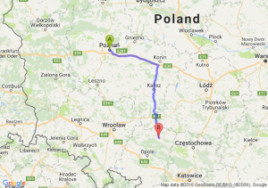 Poznań (wielkopolskie) - Kluczbork (opolskie)