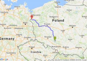 Trasa Bierdzany - Chojna