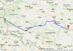 Łęknica (lubuskie) - Skarżysko-Kamienna (świętokrzyskie)