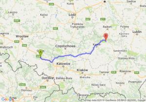 Trasa Dąbrówka Górna - Starachowice