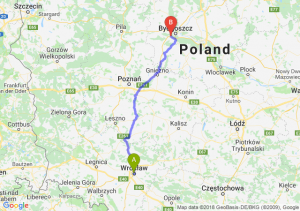 Trasa Wrocław - Białe Błota