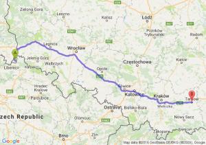 Bogatynia (dolnośląskie) - Tarnów (małopolskie)