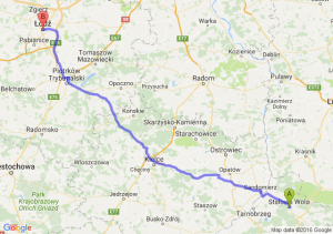 Stalowa Wola (podkarpackie) - Łódź (łódzkie)