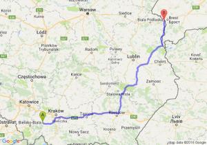 Wadowice (małopolskie) - Terespol (lubelskie)