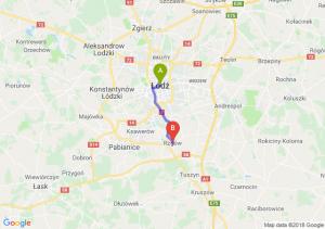 Trasa Łódź - Rzgów