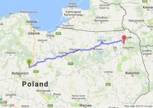 Trasa Chełmno - Raczki