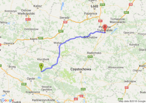 Trasa Bierdzany - Piotrków Trybunalski