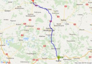 Trasa Kępno - Jarocin