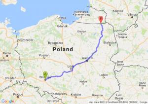 Wrocław (dolnośląskie) - Gołdap (warmińsko-mazurskie)