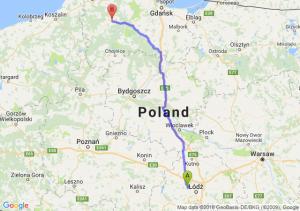 Trasa Aleksandrów Łódzki - Bytów