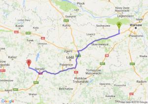 Trasa Błonie - Błaszki