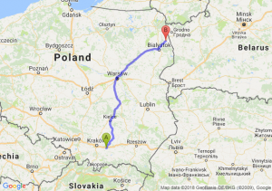 Trasa Bochnia - Sokółka