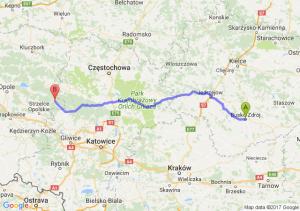Trasa Busko-Zdrój - Zawadzkie
