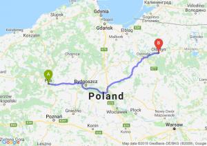Trasa Piła - Olsztyn