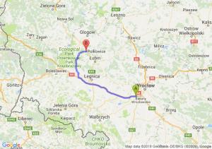 Trasa Biskupice Podgórne - Polkowice