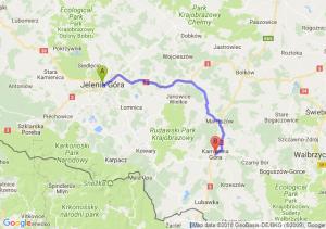 Trasa Jelenia Góra - Kamienna Góra