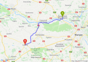 Trasa Nowy Dwór Mazowiecki - Łowicz