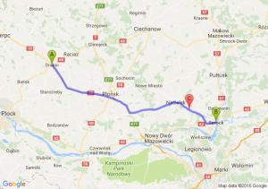 Drobin (mazowieckie) - Serock (mazowieckie) - Popowo-północ (mazowieckie)
