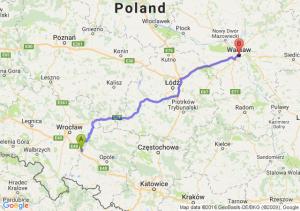 Owczary (dolnośląskie) - Warszawa (mazowieckie)