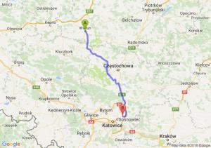 Trasa Wieluń - Dąbrowa Górnicza