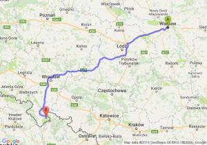 Warszawa (mazowieckie) - Stronie Śląskie (dolnośląskie)