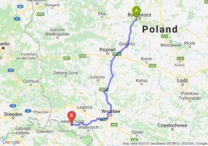 Trasa Białe Błota - Jelenia Góra