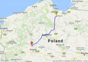 Tczew (pomorskie) - Oborniki (wielkopolskie)