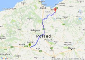 Września (wielkopolskie) - Pasłęk (warmińsko-mazurskie)