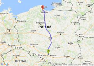 Trasa Dąbrowa Górnicza - Żukowo