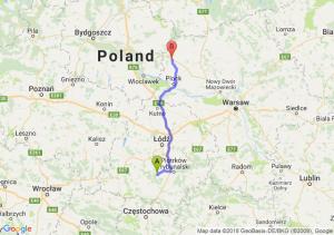 Trasa Bełchatów - Sierpc