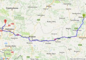 Stalowa Wola (podkarpackie) - Tarnowskie Góry (śląskie)