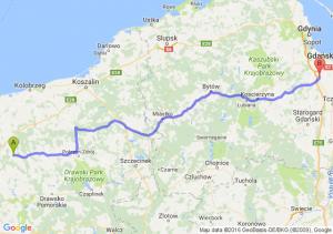 Resko (zachodniopomorskie) - Pruszcz Gdański (pomorskie)